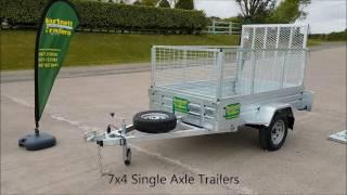 7x4 single axle car trailer