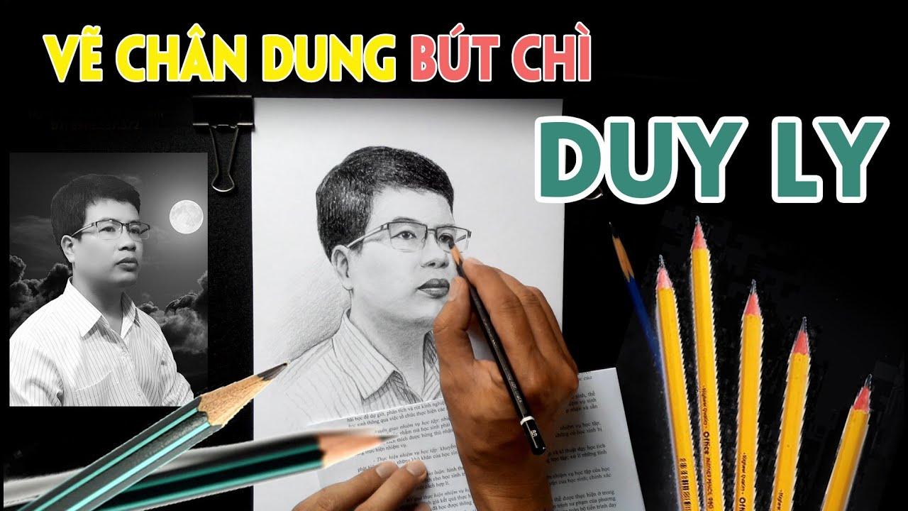 Vẽ chân dung Tác giả Truyện Ma Duy Ly – ART Hạnh Phúc. Author of Duyly's ghost story