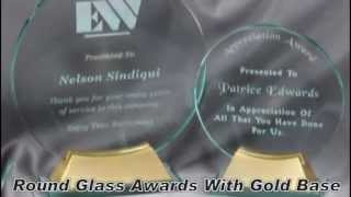 Glass Awards, Trophies & Plaques From Hit Trophy