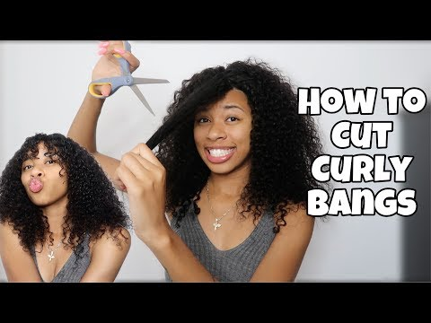 How to Cut Bangs into a Curly Wig! | ft. Supernova Wigs
