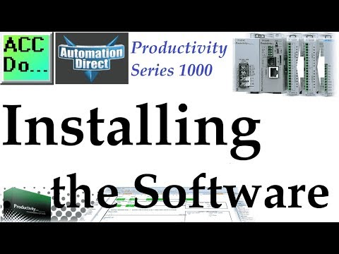 Productivity 1000 Series PLC Installing the Software   Acc
