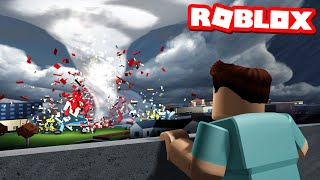 I tried to survive TORNADO ALLEY in Roblox..