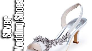 Silver Wedding Shoes | Low Heel Wedding Shoes