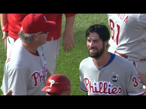 PHI@CHC: Hamels tosses first careeer no-hitter