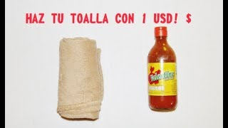 HAZ TU PROPIA TOALLA COMPACTA PARA VIAJES / Con solo 1 $