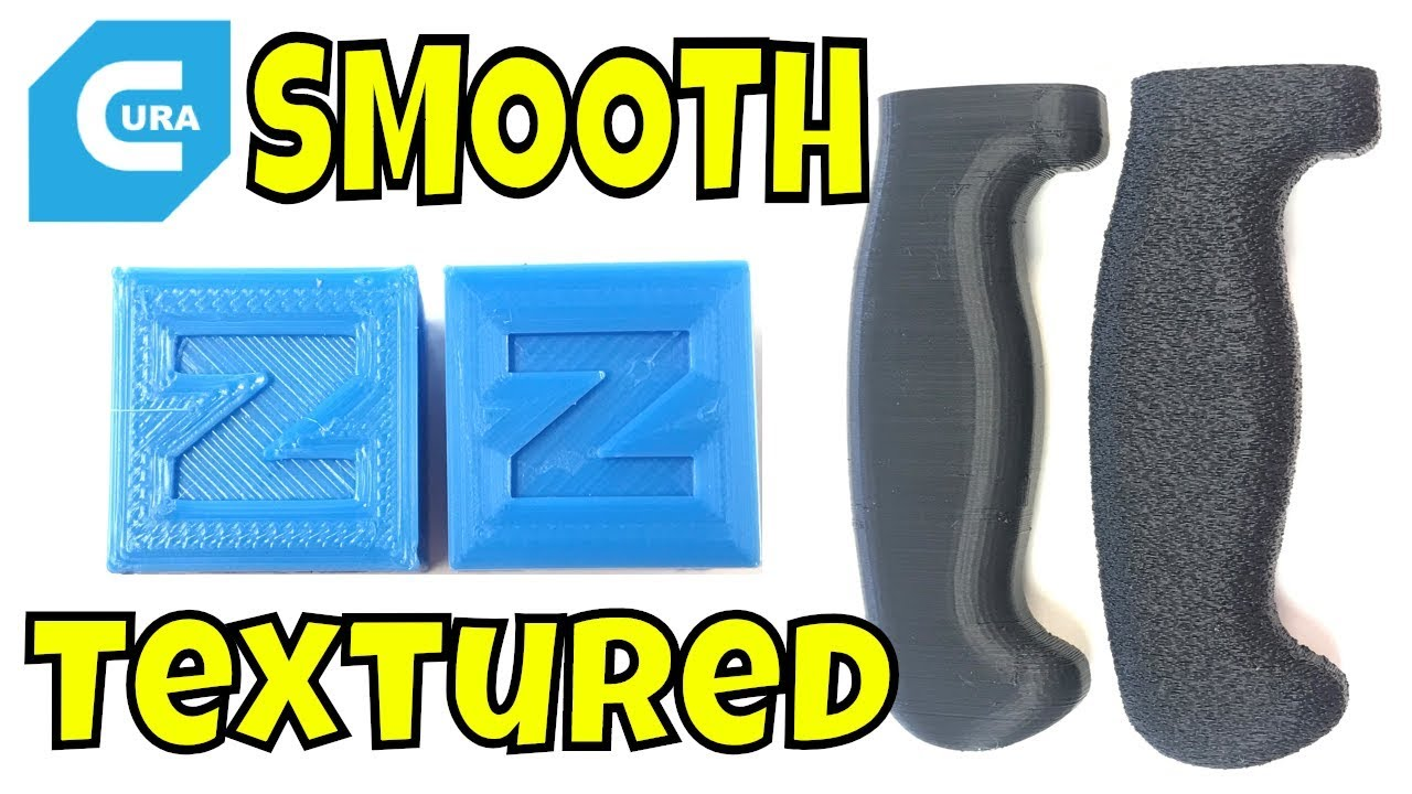 Cura Fuzzy Skin and Ironing on 3D Prints