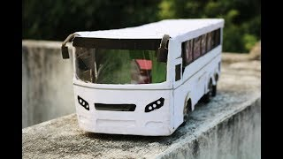 HOW TO MAKE RC CONTROL BUS WITH CARDBOARD /MAKE RC BUS AT HOME/RC VOLVO BUS /AIR BUS