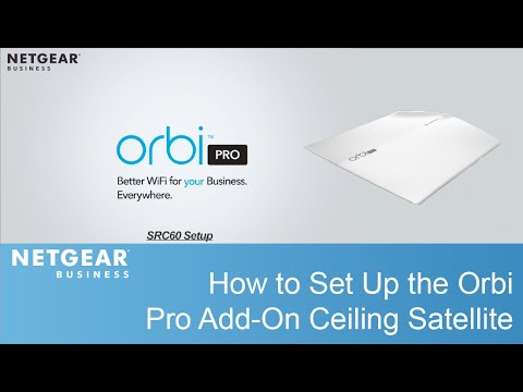 How to Set Up the Orbi Pro Ceiling Satellite | SRC60
