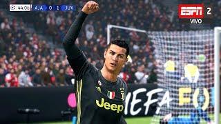 Recreación Ajax 1-1 Juventus - UEFA Champions League 2019