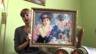 Картины по номерам. Дама у зеркала(, 2014-11-14T06:10:49.000Z)
