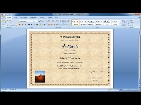 How to make your own certificate in Word|Learn ms word easily