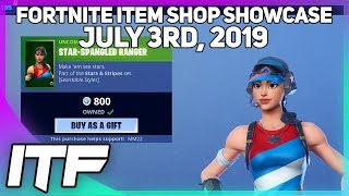 Fortnite Item Shop 'NEW' STAR-SPANGLED SKINS ARE BACK! [3 juillet 2019] (Fortnite Battle Royale)