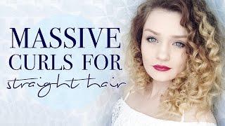 TUTORIAL: MASSIVE CURLS FOR STRAIGHT HAIR | tinytwisst
