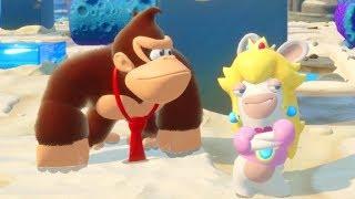 Mario + Rabbids - Donkey Kong Adventure DLC Walkthrough Part 11 - Reef Challenges