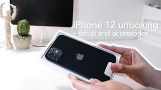 iPhone 12 128GB Black unboxing plus setup and accessories