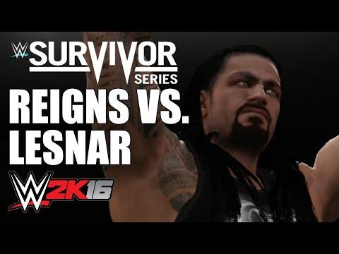 WWE Title - Survivor Series Tournament #7 - Reigns Vs Lesnar (WWE 2K16 Sim)