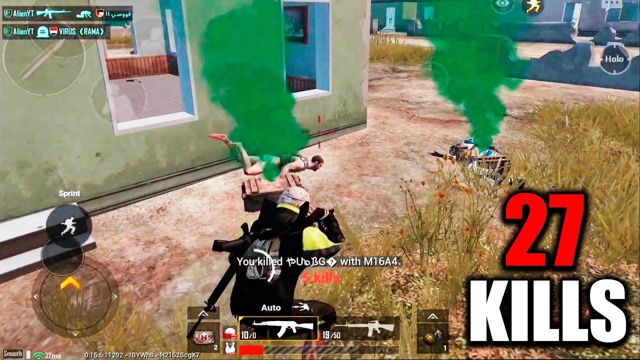 Invisible Sniper | 27 Kills vs Squad | PUBG Mobile