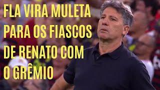Grêmio volta a decepcionar e Renato Gaúcho usa o fiasco do Flamengo tentando se justificar