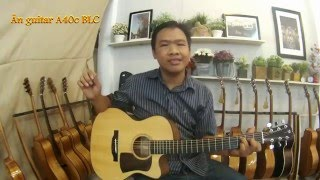 GTGuitarshop guitar review - Ân guitar A40c BLC