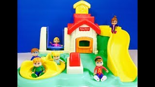 fisher price playground with the chipmunks and chipettes toys