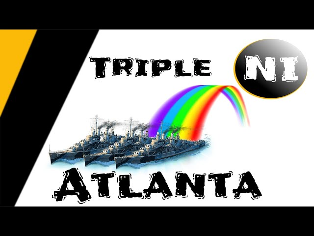 WoWS - Triple Atlanta Sealclubbing