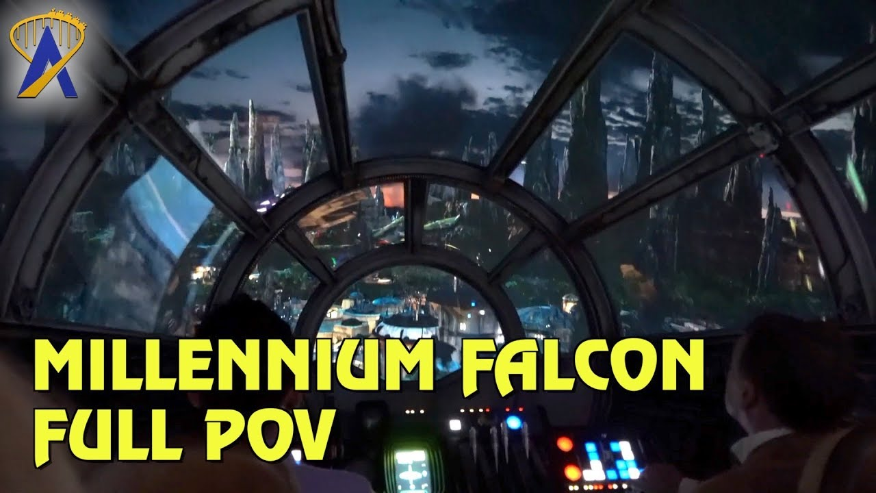 Millennium Falcon: Smugglers Run POV in Star Wars: Galaxy's Edge