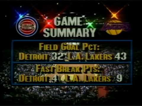1988 NBA Finals: Pistons at Lakers, Gm 2 part 4/13 - YouTube