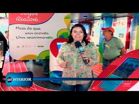 Em Rio Preto carreta com acervo sobre Jogos Olímpicos