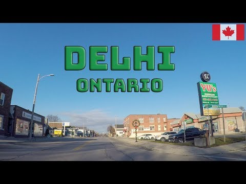 Driving through Delhi, Ontario