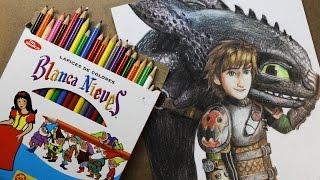 Dibujando con COLORES BLANCA NIEVES (drawing with cheap art supply) | Diana Díaz