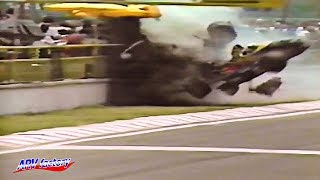 Philippe Alliot Big Crash 1988 F1 Mexico Qualify