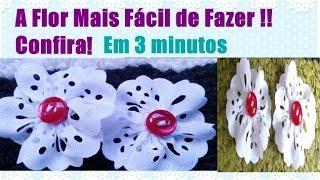 Faça flores em apenas 3 minutos