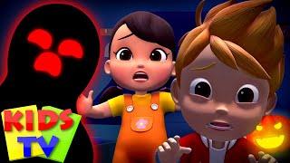Monsters in the Dark | Halloween Songs & Music | Spooky Nursery Rhymes & Scary Songs  Kids Tv