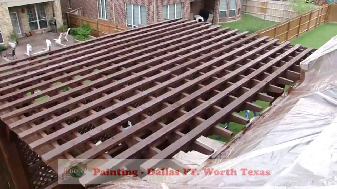 Deck Staining Pergola Gazebo Decks Painting Dallas