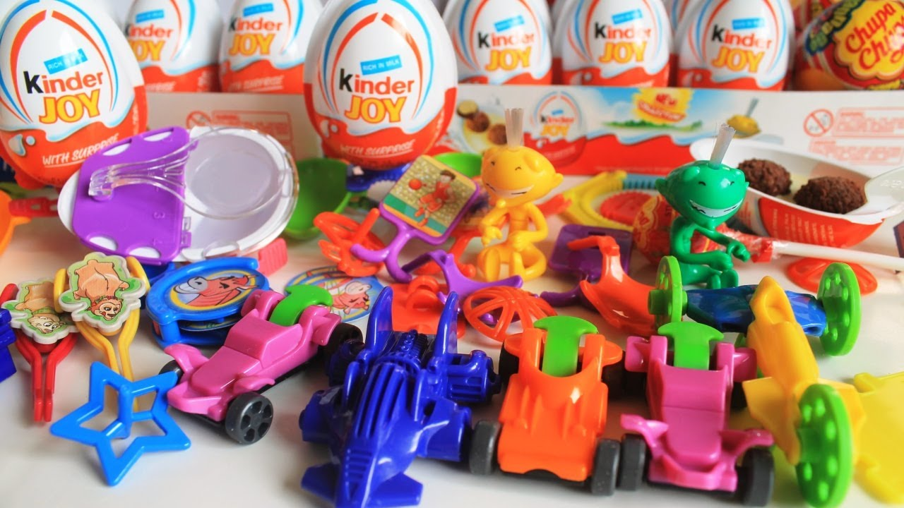 Kinder Surprise Eggs: 20+ Kinder Joy Surprise Eggs Toy Cars Chupa Chups Surprise Toys