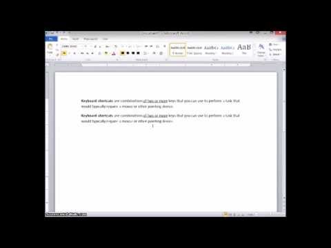 Sem 1 Week 5 - MS Word Basics