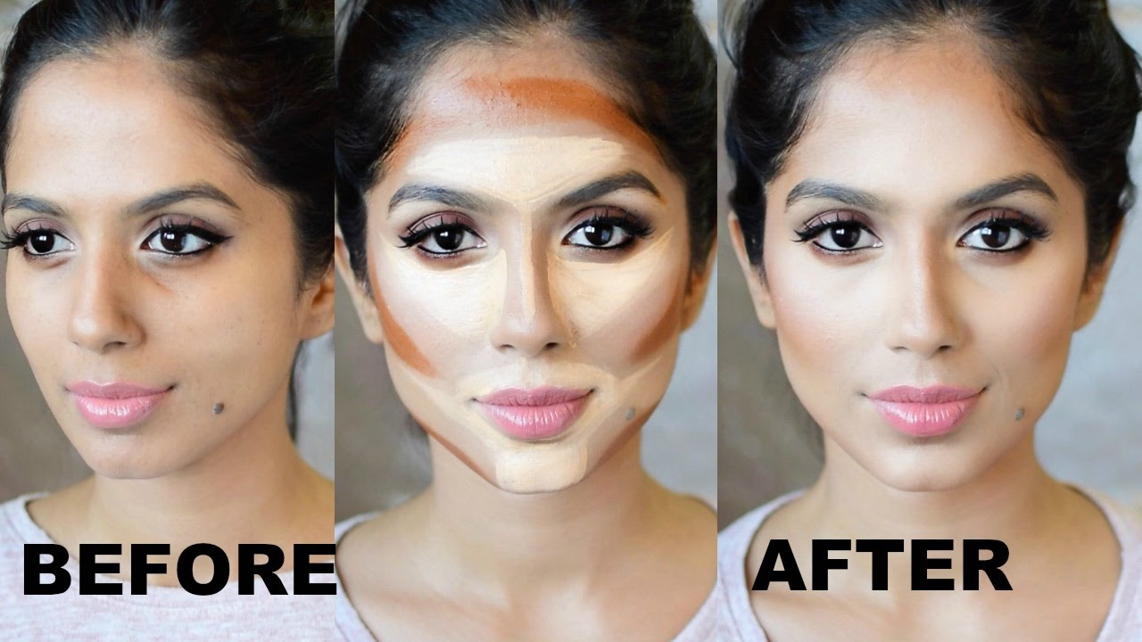 HOW TO CONTOUR YOUR FACE FOR BEGINNERS I Step By Step - YouTube
