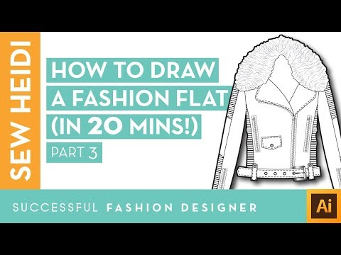 Illustrator Fashion Design Tutorial: How to Draw a Fashion Flat in 20 Mins (Part 3)