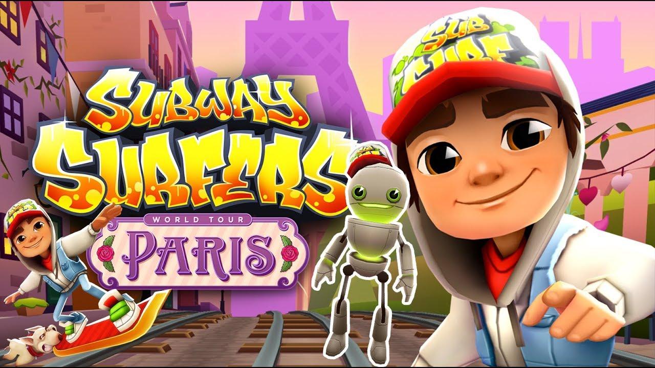 Subway Surfers Gameplay   Tagbot en Paris y Mystery Box   Juego para niños