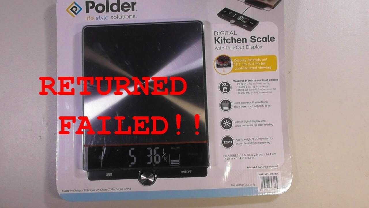 POLDER Digital Kitchen Scale REVIEW COSTCO ITEM 1183826 REVIEW