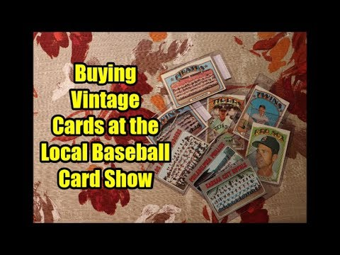 Buying Vintage Baseball Cards At A Local Card Show