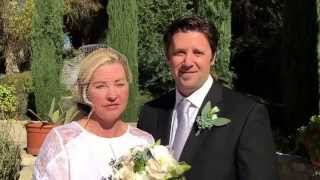Wedding ceremony in Ojai testimonial about Alan Katz wedding officiant.