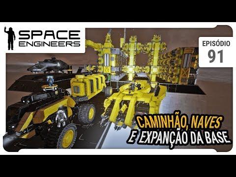 Space Engineers - Coop - Caminhão, naves e expansão da base - ep 91