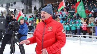 """""""Это мужик, молодец!"""" - Лукашенко о выступлении младшего сына на """"Снежном снайпере"""""""