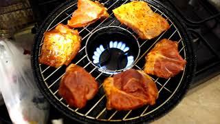 Приготовление мяса в сковороде гриль-газ за 900 рублей)