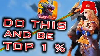 GET IN TOP 1% AS F2P. DRAGON SKY IDLE AND MERGE TUTORIAL / GUIDE AND TIPS