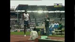 Long Jump slow motion form analysis - Dwight Phillips, Mitchell Watt, Ngonidzashe Makusha