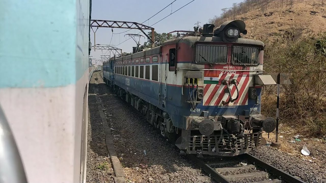 Parallel Train Race in Thul Ghat : 12072 Jalna Jan Shatabdi Express VS WAG7  Bankers