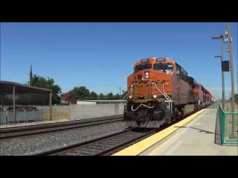[HD] Railfanning BNSF's Stockton Subdivision at Turlock-Denair and Modesto (07/09/16)