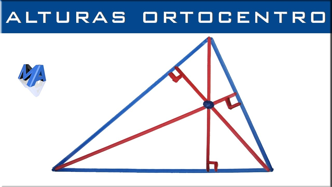 Alturas De Un Triangulo Y Ortocentro Todo Tipo De Triángulo Youtube